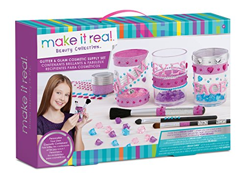 Glitter and Glam Cosmetic Supply Set Craft Kit for Girls