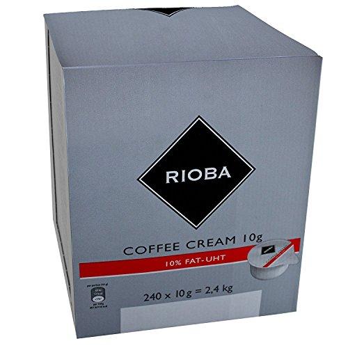 Rioba Coffee Cream, Kaffeesahne 10% Fett, ultrahocherhitzt, 240 Stück je 10g, 2.4 KG