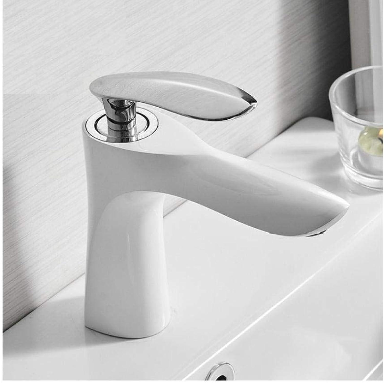 Wasserhahn Waschtischarmaturen Elegante Badarmatur Warmes und kaltes Wasser Waschtisch-Mischbatterie Messing verchromt Waschbecken Wasserhahn