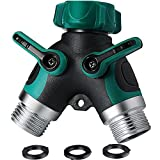 Centh 2 Way Y Hose Splitter, Garden Splitter with Comfortable Rubberized Grip for Easy Life (2 Way)
