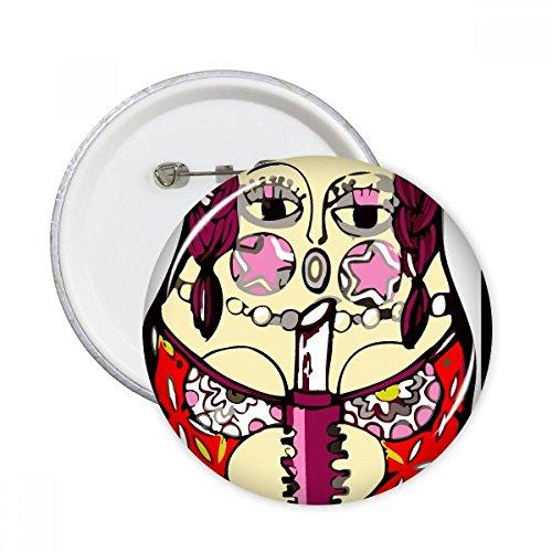 Rusland Russische Matroesjka Nesting Poppen Vrouwelijke Ronde Pins Badge Knop Kleding Decoratie Gift 5 stks Small