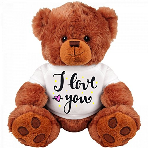 Teddy Bear Couple Gift: Funny 13 Inch Teddy Bear Stuffed Animal : I Love You : Romantic Gift : Best Couple Gift