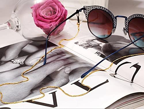 N\C Cadena de Gafas Estilo Minimalista Cadena de Cuentas Negras Cordón Soporte para Gafas de Lectura Accesorios para Mujeres Gafas de Sol Cinturón de fijación Cuerda
