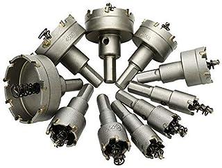 10Pcs Carbide Tip Drill Bit Saw Set Metal Wood Drilling Hole Cut for Installing Locks 16/18/19/22 /25/30/35/42/50/ 53Mm Dr...