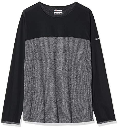 Berghaus Technique 2.0 T-Shirt Manches Longues Femme Carbon Marl/Jet Black FR : M (Taille Fabricant : 12)