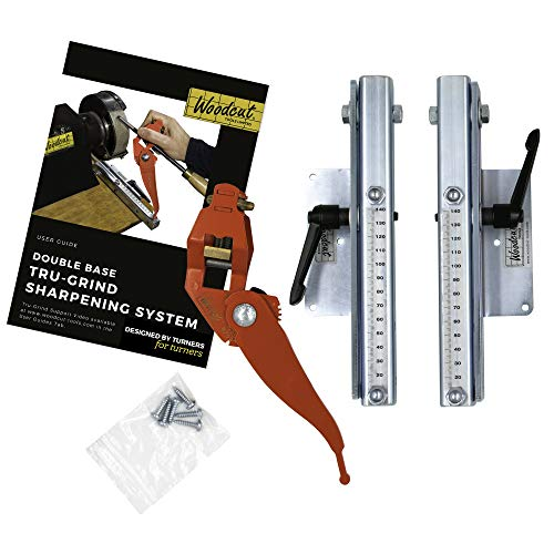 Woodcut Tools Tru-Grind Turning Tool Sharpener System including a versatile Jig with Two Base Slides...