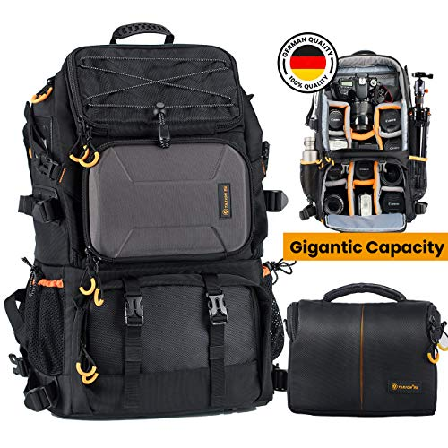 TARION Pro PB-01 Camera Backpack Large + Shoulder Camera Case with 15.6' Laptop Compartment...