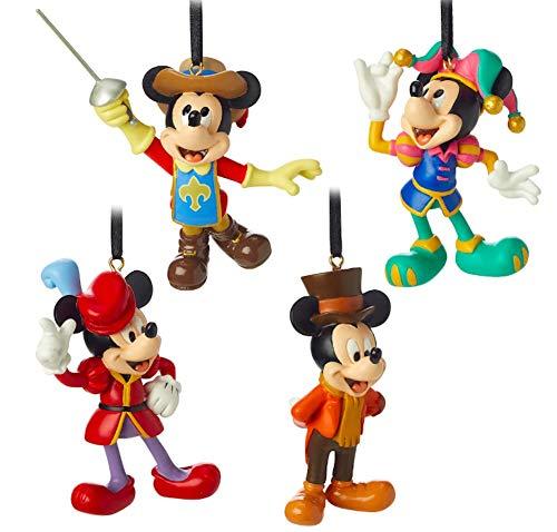 Disney Mickey Mouse Through The Years Mini Ornament Set 3