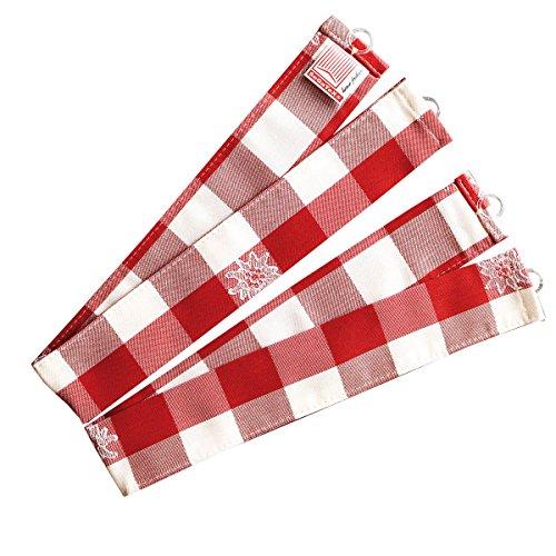 SeGaTeX home fashion Raffhalter Karo mit Edelweiß rot-weiß 2er-Set/passend zur Serie Karo mit Edelweiß in Rot