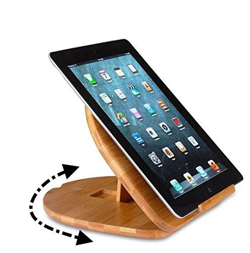 YISAMA Supporto Regolabile con Base Girevole per Libri e Tablet. Girevole e Regolabile Leggio per Libri e Ipad.