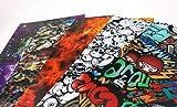Skulls Fire Graffiti Trash Space Printed Plastic for making guitar picks 0.80mm
