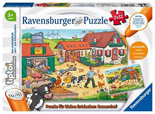 Ravensburger tiptoi 00066 Puzzle für kleine Entdecker: Bauernhof, Puzzle für Kinder ab 3 Jahren, für 1 Spieler