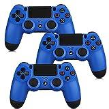 ZUEN 3 Stück Bluetooth Wireless-Joystick Für PS4 Gamepads Controller-Fit-Konsole Für Playstation4 Gamepad Dualshock 4 Gamepad Für PS3,Blau