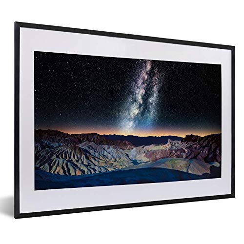 Poster avec cadre voie Lactée - Voie Lactée Plus de Death Valley National Park signifie noir 60x40 cm - Poster encadré (déco murale salon / chambre)