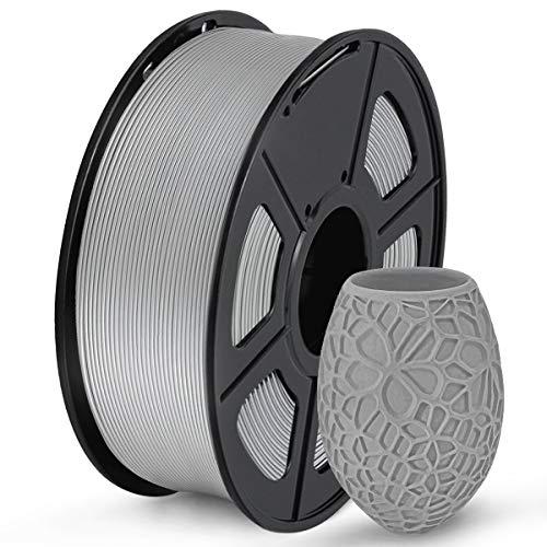 SUNLU Filamento PLA 1.75mm, PLA Filamento Impresora 3D, Precisión Dimensional +/- 0.02mm, 1kg Spool(2.2lbs), 1.75 PLA Gris
