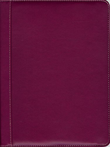 Pierre Belvedere Executive A4/Letter-Size Zip Portfolio, Refillable, Fuchsia (678360)