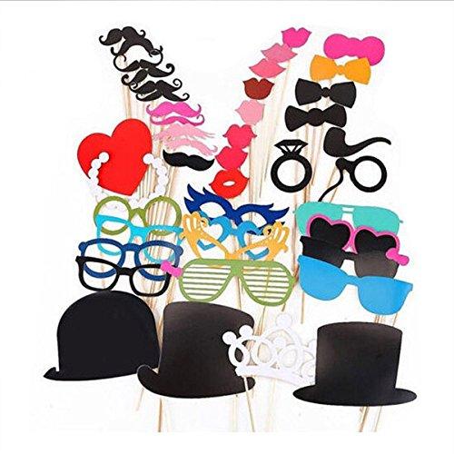 RGRGH 44 STKS DIY Masker Photo Booth Props Snor Op Een Stok Bruiloft Verjaardag Party