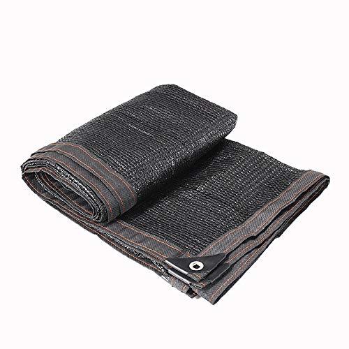 QHGao zwarte 4-pins perfecte zonwering schaduw doek, kas schaduw Net, UV bescherming zonwering dekzeil met zwart lint randen en aluminium grommets voor tuinplanten