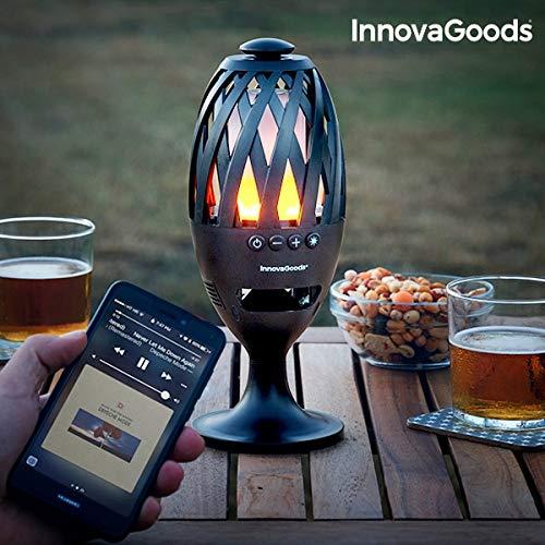 InnovaGoods IG813017 LED-Fackel, Bluetooth, Schwarz
