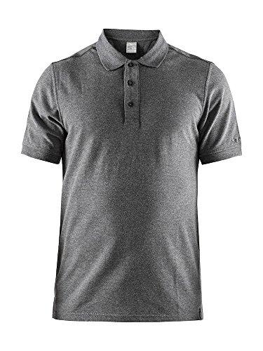 Craft Homme Casual Polo Pique M DK Grey Polo Chemise pour Homme, Gris, XXL