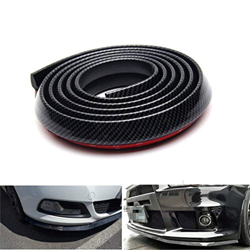 Wefond 4 Pezzi Nero in Fibra di Carbonio Auto Car Door Bump Protector Sticker per Auto SUV Pickup Truck