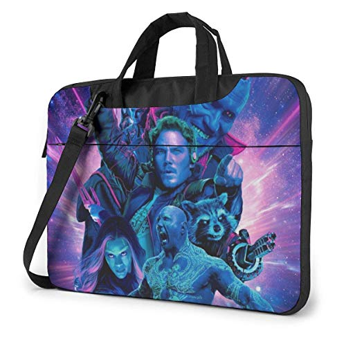 14 inch Guardians Galaxy Laptop Bag Waterproof Shockproof Double Zipper Protective Case One Shoulder Messenger Laptop Bags with Handle Satchel Tablet Carrying Sleeve