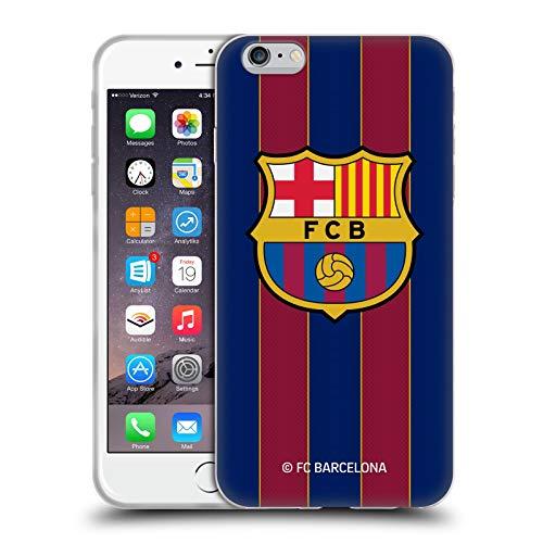 Head Case Designs Oficial FC Barcelona Casa 2020/21 Kit de Cresta Carcasa de Gel de Silicona Compatible con Apple iPhone 6 Plus/iPhone 6s Plus