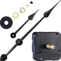 WILLBOND Long Shaft High Torque Clock Movement Clock Motor with 7 Inch Spade Hands (Shaft Length 9/10 Inch/ 23 mm)