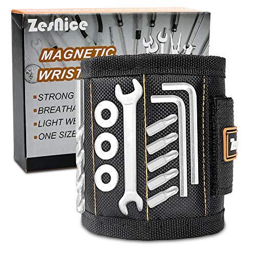 ZesNice Bestes Männer Geschenke Magnetisches Armband Magnetarmband mit 15 Leistungsstarken Magneten für Handwerker Weihnachtsgeschenke Geschenke Vatertagsgeschenk