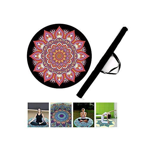 SYXX Yoga-Matte, Suede Anti-Rutsch-Yoga-Matte, Rundfitnessmatte Anti-Rutsch-Naturkautschuk-Meditation Matte, Gymnastikmatte, Teppich Fitnessmatte, Kinder Krabbeln Mat, Durchmesser 140CM (Color : C)