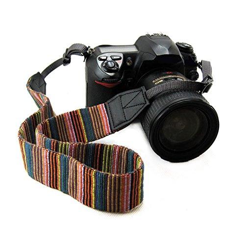 chmete Bohemia Vintage cámara universal ajustable videocámara hombro correa de cuello cinturón con arnés adaptador se adapta para DSLR Cámara