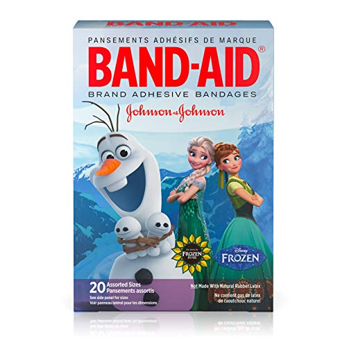 Band-Aid Adhesive Bandages, Disneys Frozen, Assorted Sizes, 20 Count - Packaging may vary