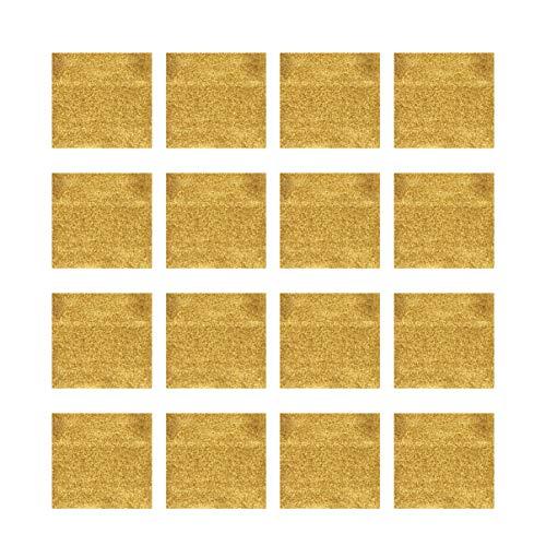 EXCEART Confezione da 300 Fogli di Carta in Alluminio per Imballare Cioccolatini con Decorazione di Caramelle Quadrata Dorata 4 X 4 Pollici