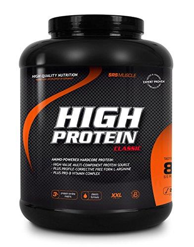 SRS Muscle - High Protein XXL, 2.500 g, Schoko | 3+1 Mehrkomponentenprotein | optimiert auf biologische Wertigkeit | aspartamfrei | laktosereduziert | deutsche Premiumqualität