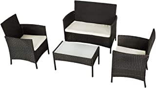 Aktive 61010 Conjunto muebles ratán para jardín,