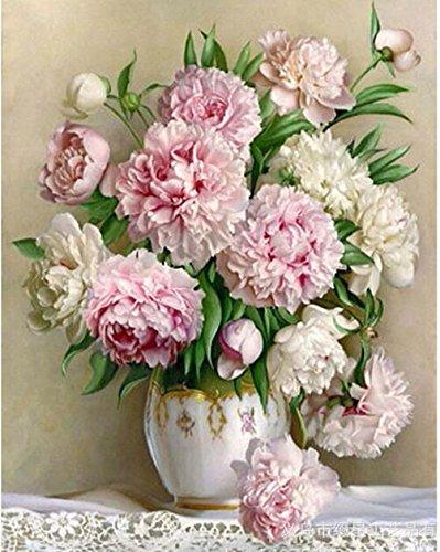 Queenlink complète Collez-le DIY carré Diamant Broderie peintures Strass Croix Chine roses