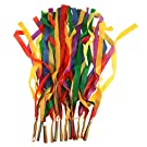 BESTOYARD Rhythm Ribbon Dance Rainbow Ribbon Set 12pcs