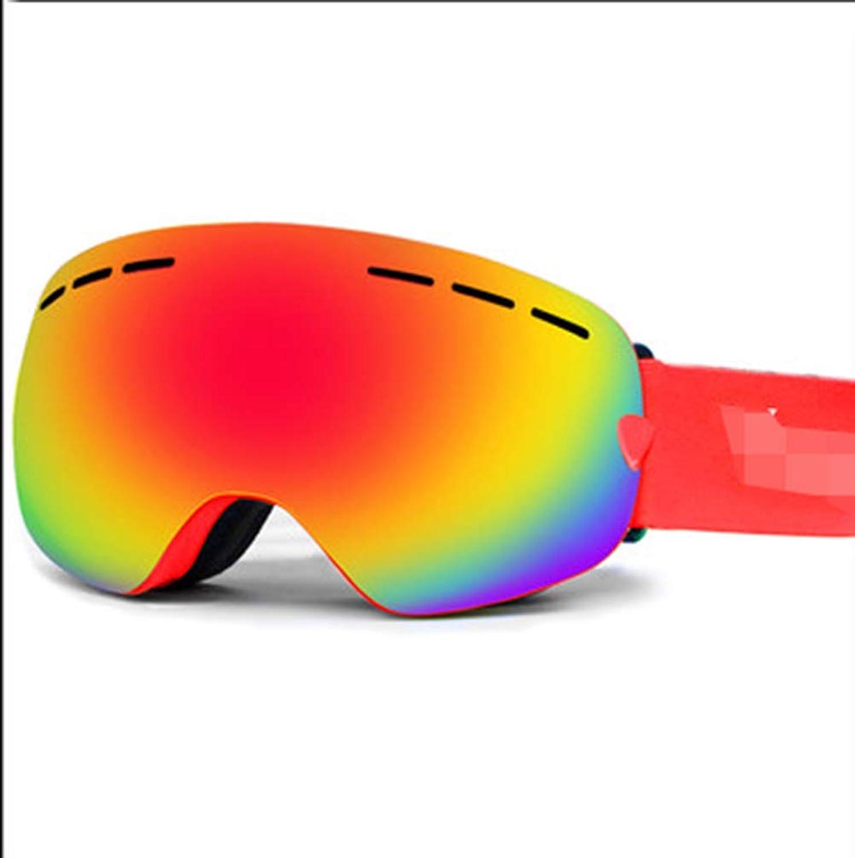 HuanXin-W751 HuanXin-W751 HuanXin-W751 Skibrille rahmenlose Brille OTG Anti-Fog 100% UV-Schutz Weitsicht Männer und Frauen Jugend (Rot) B07MH9BVN6  Klassischer Stil ddb947