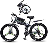 Bicicletas Eléctricas, Plegable eléctrico de bicicletas de montaña de 26 pulgadas Fat Tire Ebike 350W del motor, la suspensión plena y 21 cambios de velocidad con retroiluminación de LCD 3 Montar los