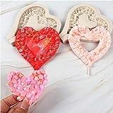 COOLSHOPY 3 unids/Set Día de San Valentín Diamond Love Torta Molde Amor Heart Lollipop Molde de Silicona Molde de azúcar Coral Fondant Molde de Chocolate (Color : 3pcs)