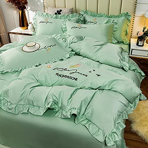 juego de funda de edredón de 3 piezas,Set de sábanas de sábanas Set 4 PCS 1 Duvet Funda 1 Hoja ajustada 2 Casas de almohadas, más adecuadas para la decoración del dormitorio, las habitaciones.-L_Cama