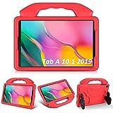 KATUMO Funda para niños para Samsung Galaxy Tab A 10.1 '(2019) SM-T510 / T515, Soporte Plegable a Prueba de Golpes EVA Funda Protectora Ligera para Tableta para Galaxy Tab A 10.1 Pulgadas ,Rojo