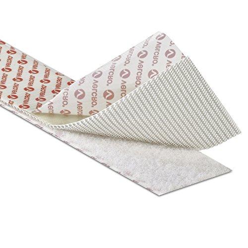Velcro® Brand Klettverschlussband industrieller Stärke, selbstklebend, robust, Ultramate®, PS51/PS52, in Weiß, 5cm breit, weiß, 1 m