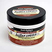 Aunt Jackie's Coconut Crème Recipes Butter Crème, Intensive Hair Moisture Sealant, Lightweight Leave-in Moisture Treatment, Great for All Hair Types, 7.5 Ounce Jar