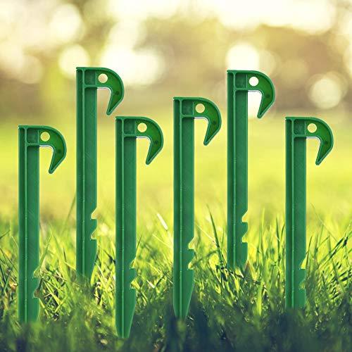 Raguso 10Pcs Reusable Plastic Garden Fixing Pegs Fixing Pegs Weed Barrier Fixing Pegs
