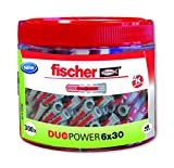 Fischer 553306 Lot de 300 chevilles Duopower 6 x 30 cm