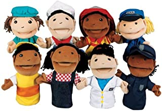 Kaplan Early Learning Company Occupation Puppets - Set of 8