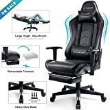GTRACING Gaming Chair with Footrest Black Office Executive Chair Big and Tall Heavy Duty Adjustable...
