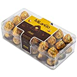 Milango Gold Milk Chocolate with a Whole Hazelnut and Hazelnut Creme filling, Pack of 400 Gram Individually Wrapped Chocolate Christmas Candy Gifts, Perfect Stocking Stuffers