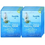 SpaLife Hydrating, Purifying, Anti-Aging, Detoxifying and Soothing Korean Facial Masks - 10 Masks (Goat's Milk + Mediterranean Olive Oil)